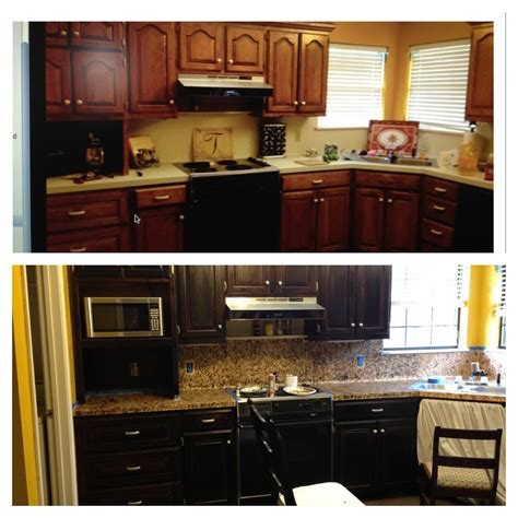 staining kitchen cabinets darker before and after splash of southern charm