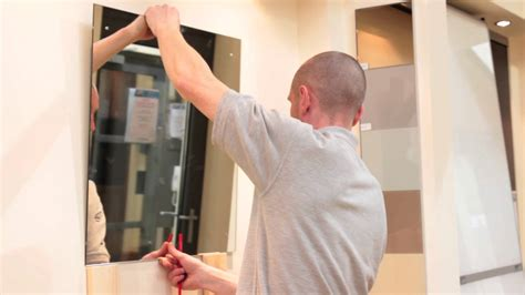 how to hang a large bathroom mirror mirror installation video youtube