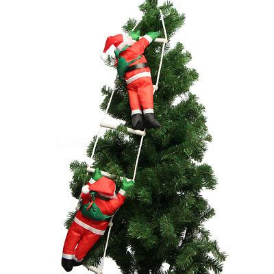 climbing santa ladder christmas decoration climbing santa with rope ladder outdoor decoration 709327092254 ebay