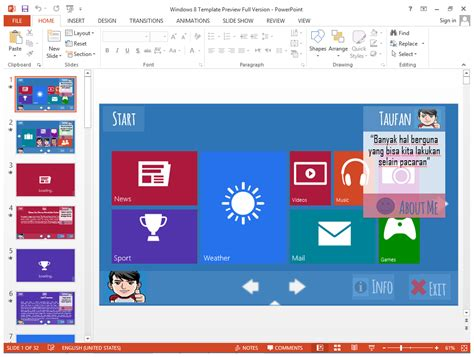 Download Themes For Powerpoint Windows 7 | download windows 8 powerpoint template v1 2014 b4sharing