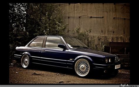 bmw e30 in blue on bbs rc wheels bbs rs zone