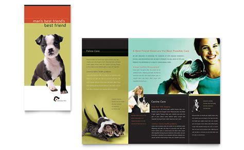 veterinary clinic brochure template design