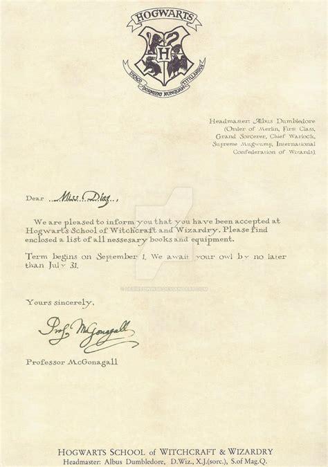 hogwarts acceptance letter english desiredwings