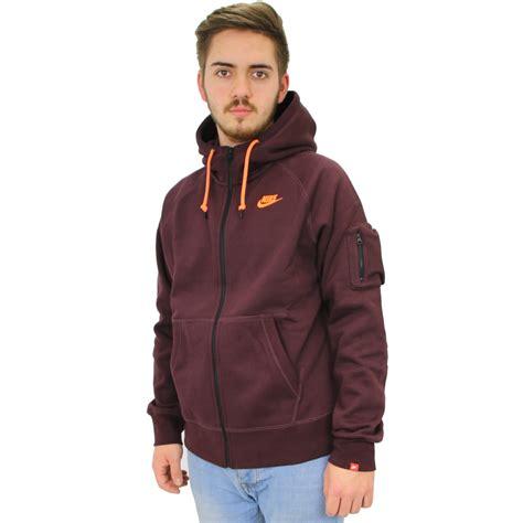 Nike Zipper Jaket nike aw77 fleece zip hoody s jacket jumper sportswear various colours ebay