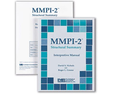 assessment using the mmpi 2 rf psychological assessment series books mmpi 2 structural summary