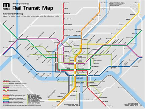 subway maps metro cincinnati routes and maps