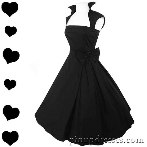 pinups for black weddings new black retro rockabilly full skirt 50s style dress