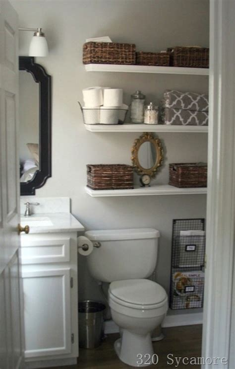 Decorating Ideas Above Toilet Shelves Toilet Cottage Bathroom Glidden Fossil