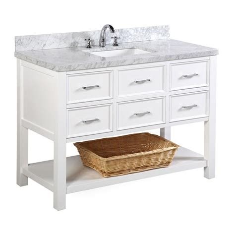 Bathroom Vanities Nh by New Hshire 48 Inch Vanity Carrara White