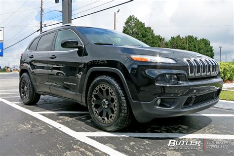 jeep cherokee tires jeep cherokee with 18in black rhino warlord wheels