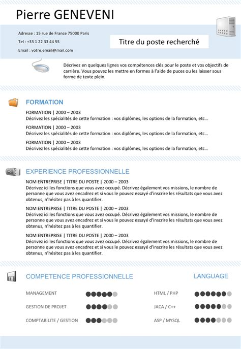 Modele Cv Informatique Word by Exemple De Cv Informaticien Gratuit 224 T 233 L 233 Charger