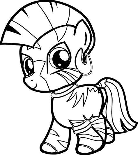 my little pony coloring pages zecora zecora filly very cute baby horse coloring page