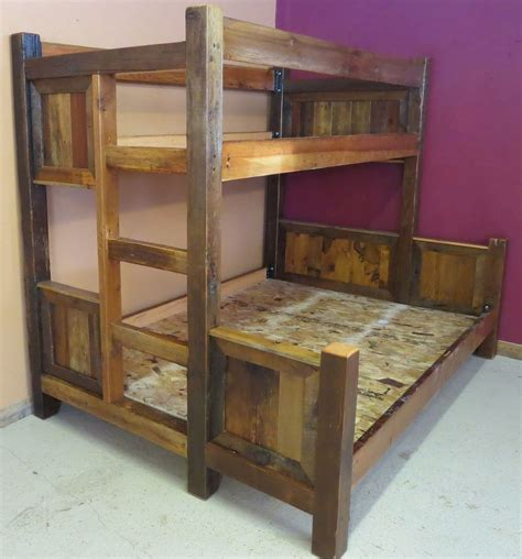 Reclaimed Wood Bunk Beds Barn Wood Bunk Bed Barn Wood Furniture Rustic Furniture Log Furniture By Vienna Woodworks