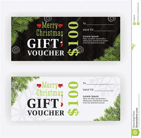 Merry Christmas Gift Voucher Certificate Template Design Stock Photo Image 61968076 Merry Gift Certificate Templates