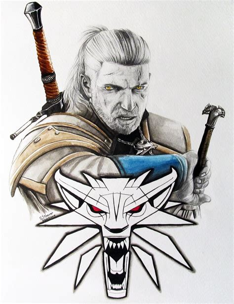 Witcher 3 Sketches by The Witcher 3 Fan Painting By Lethalchris On Deviantart