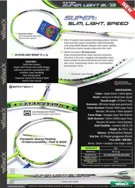 Raket Yonex Seken dealer resmi raket badminton winex kualitas dunia harga