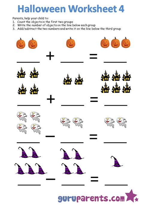 halloween worksheets guruparents
