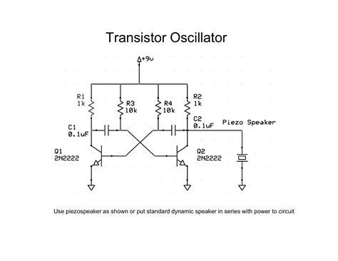 transistor oscillator schematic