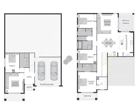4 level split floor plans bayview act floorplans mcdonald jones homes