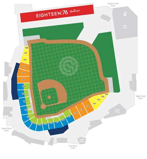 cubs stadium seating chart chicago cubs mesa az