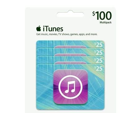 Itunes Gift Card Coupons - 79 47 for a 100 itunes gift card multipack savings lifestyle