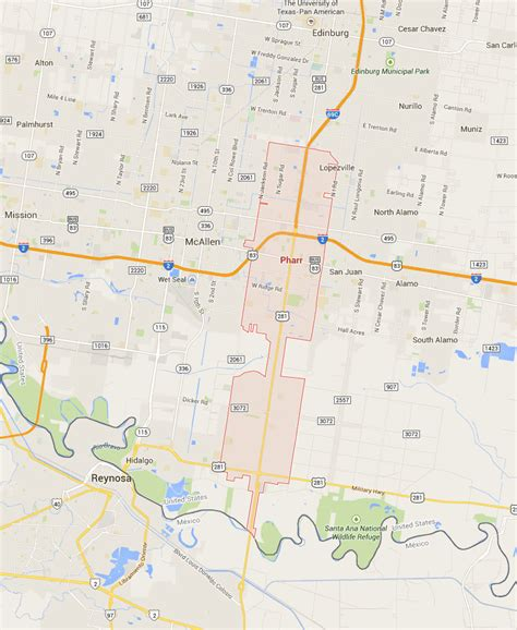 map of pharr texas pharr tx united states pictures citiestips