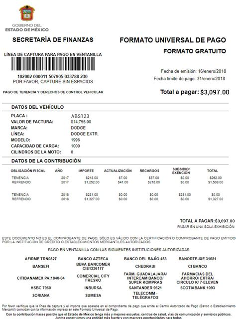 pago de refrendo 2015 edo méx tesoreria del edo de mexico pago de tenencia 2015 pago de