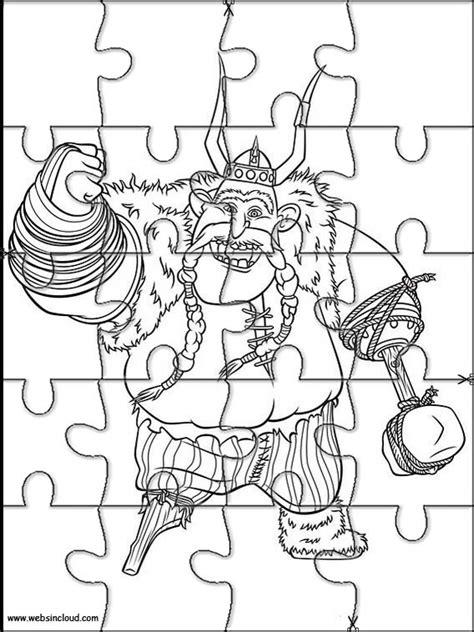 Imprimir quebra cabeça Como treinar o seu dragão 3