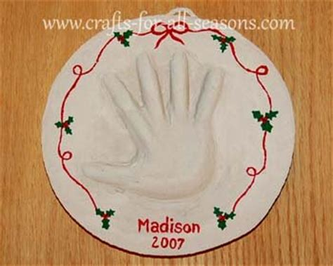 christmas crafts for kids from paris handprint plaque for baby or a small child