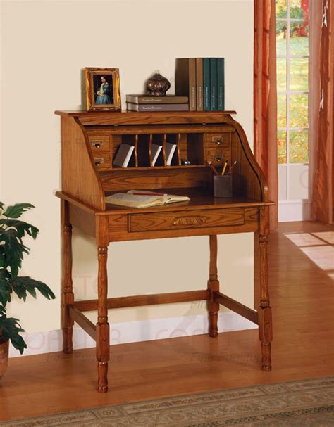 roll top secretary desk roll top secretary desk in oak finish by coaster 5301n