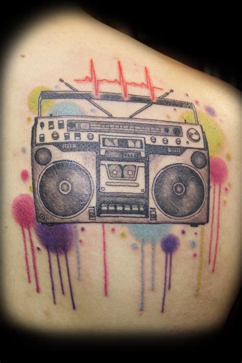 lovely boombox  tattoo tattoomagz tattoo designs