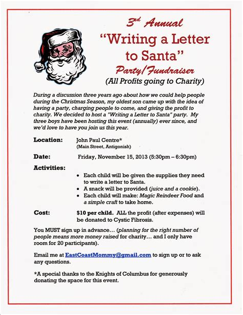 charity letter from santa east coast writing a letter to santa