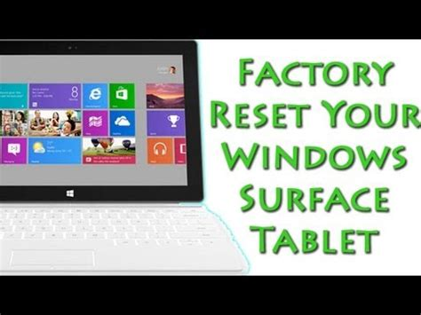resetting windows surface full download factory reset the surface pro how to