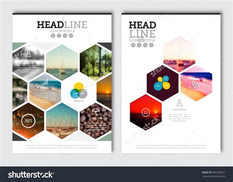 business brochure design template vector flyer layout