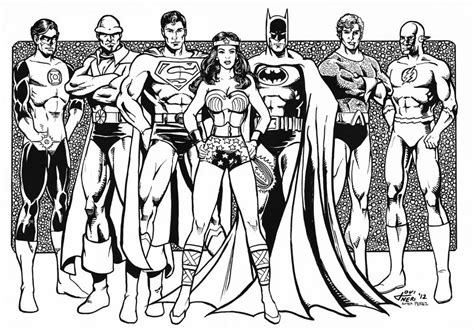 justice league printable coloring pages