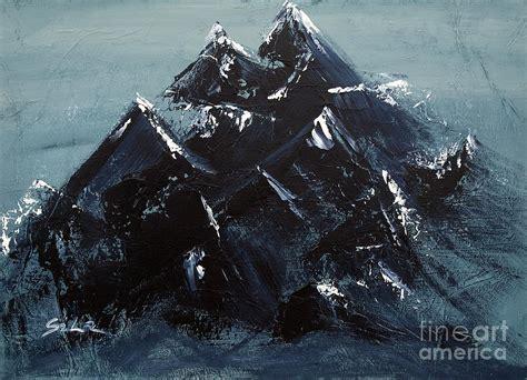 Fine Home Decor by Black Mountain 2 Painting By Lidija Ivanek Sila