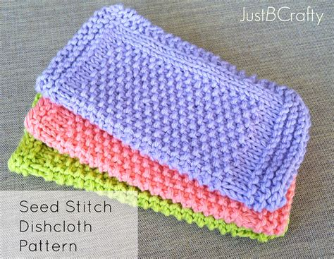 knitting seed stitch seed stitch dishcloths just be crafty