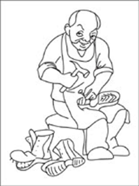 coloring page elves and the shoemaker shoemaker coloring page coloring pages