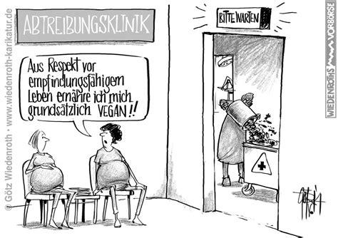 schwangerschaft wann beginnt karikatur satire politik wirtschaft zeichnung