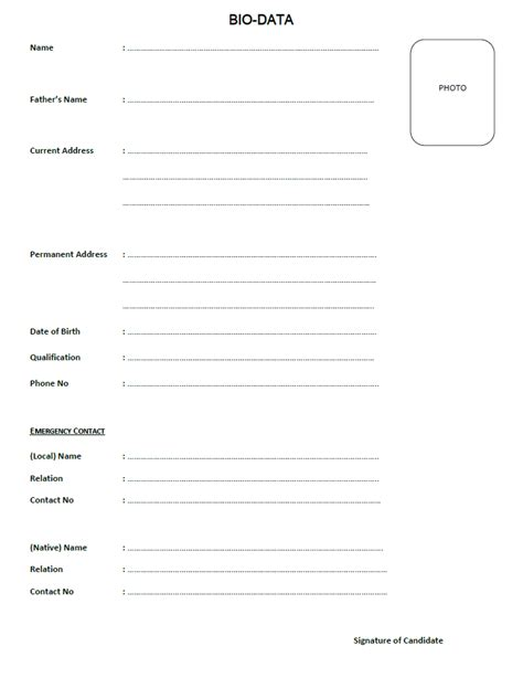 cover letter biodata template download free resume