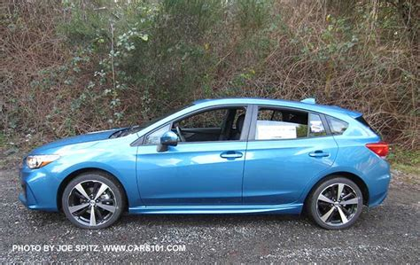 blue subaru hatchback 2017 subaru impreza 5 door hatchback exterior photos page