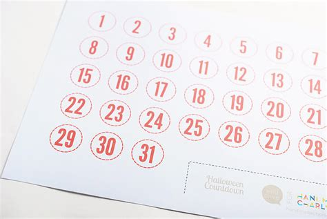 countdown chart template printable calendar numbers 1 31 new calendar template site