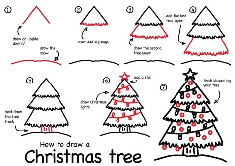 how to draw a tree step by step 9to5animations