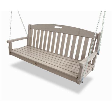 trex porch swing trex outdoor furniture yacht club sand castle patio swing