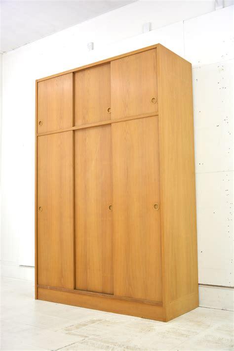 oak wardrobe sliding doors vintage sliding door