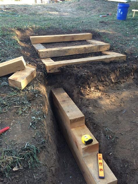 Landscape Timbers For Steps Our Homestead Lifelandscape Timber Backyard Steps