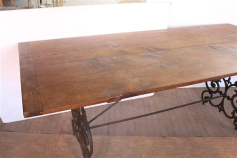 Wrought Iron And Wood Dining Table American Wrought Iron And Wood Base Dining Table Circa 1900s For Sale At 1stdibs