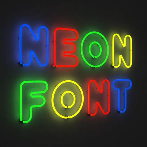 how to make 3d neon light typography 3d neon font