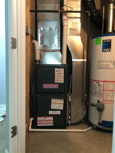 furnace ac garage heaters installed heating cooling