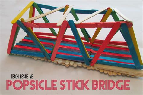 How To Make A Paper Bridge Without Glue - popsicle stick bridge teach beside me